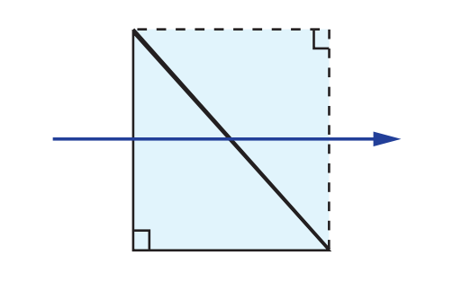 Right Angle Prism Tunnel Diagram